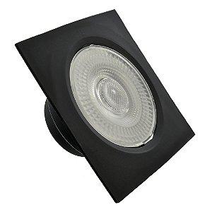 Spot LED SMD 7W Quadrado Branco Frio Preto