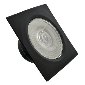 Spot LED SMD 7W Quadrado Branco Quente Preto