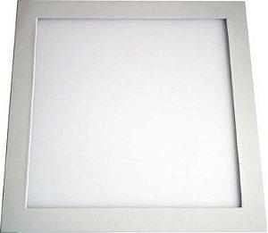 Luminária Plafon 32w LED Embutir Branco Quente