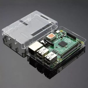 Case Raspberry Model Pi3 B+ Transparente