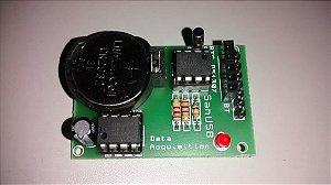 Módulo Relógio RTCDS1307 e Memória 24C256 Aquisição de Dados