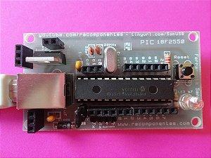 Placa SanUSB PIC 18F2550 + Cabo USB