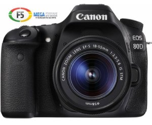 Camera Canon EOS 80D Com Lente 18-55mm STM 25.8 Megapixels DIGIC 6