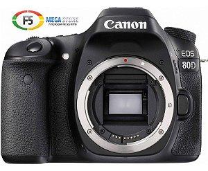 Camera Canon EOS 80D Corpo Não Acompanha Lente