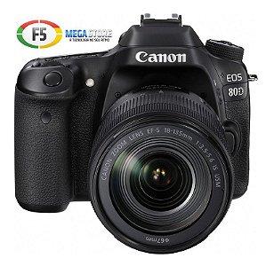 Camera Canon EOS 80D Com Lente 18-135mm USM 25.8 Megapixels DIGIC 6