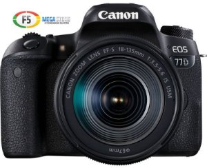 Camera Canon EOS 77D Lente EF S 18 135mm IS USM 24 MP Wi Fi Digic 7