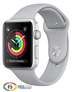 Apple Watch Series 3 42mm MQL02 Aluminium Case Com Fog Sport Band Prata