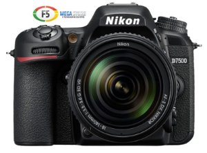 Camera Nikon D7500 Com Lente AF S DX 18 140mm VR Wi Fi 20.9MP 4K UHD Monitor Touch