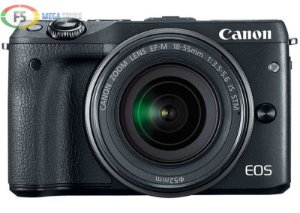 Camera Canon EOS M3 EF M 18 55mm IS STM 24.2 Mega Pixels Hybrid CMOS AF III Full HD