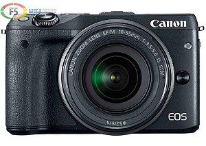 Camera Canon EOS M3 EF M 18 55mm IS STM 24.2 Mega Pixels Hybrid CMOS AF III Full HD