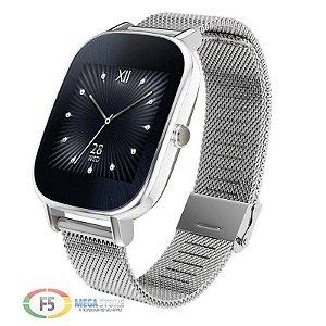 "ASUS ZenWatch 2 WI502Q Tela Touch AMOLED 1.45"" Flash eMMC 4GB 512MB Ram Android Wear Prata"