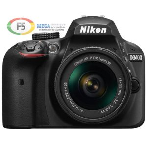 Camera Nikon D3400 Lente AF P 18 55mm 24 Megapixels Full HD
