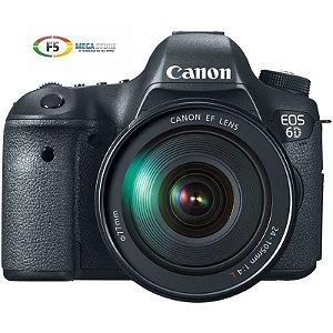 Camera Canon EOS 6D Com Lente 24 105mm 20 Megapixels Full HD Sensor CMOS