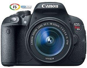 Camera Canon EOS Rebel T5i Lente 18 55mm STM 18 Megapixels Full HD Touch
