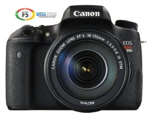Camera Canon EOS Rebel T6s Com Lente EF S 18 135mm IS STM 24 Megapixels Full HD LCD Touch