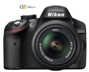 Camera Nikon D3200 Com Lente 18 55mm 24 Megapixels Full HD