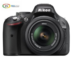 Camera Nikon D5200 com Lente 18 55mm VR DX 24.1 Megapixels Full HD