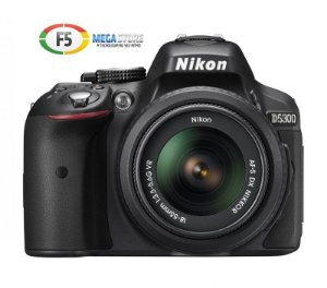 Camera Nikon D5300 Com Lente 18 55mm 24 Megapixels Wi Fi Full HD