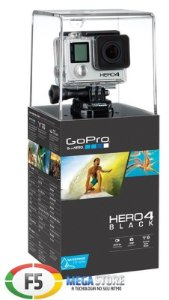 Filmadora GoPro HERO4 Black 4k Full HD 12 Megapixels