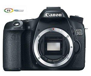 Camera Digital Canon EOS 70D Corpo nao acompanha lente 20.2 megapixels Full HD Wifi