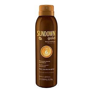 Bronzeador Sundown Gold Spray Contínuo Fator 6 150 ml
