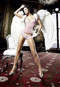 Camisola Frente Única com Detalhe em Renda - Coleção Back in Heaven