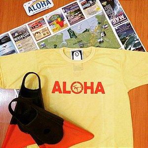 Camiseta Aloha Amarela