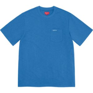 "ENCOMENDA - SUPREME - Camiseta Pocket SS21 ""Azul"" -NOVO-"