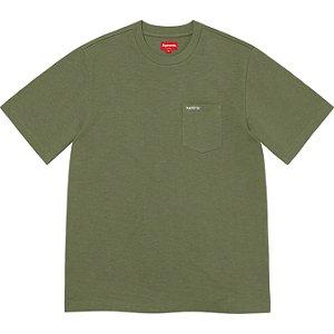 "ENCOMENDA - SUPREME - Camiseta Pocket SS21 ""Verde"" -NOVO-"
