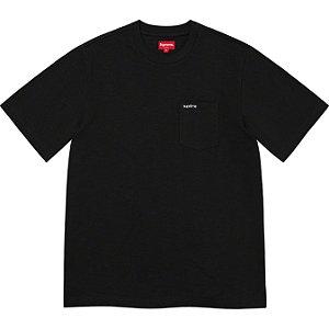 "ENCOMENDA - SUPREME - Camiseta Pocket SS21 ""Preto"" -NOVO-"