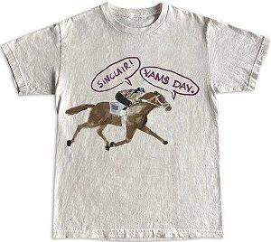 "!YAMS DAY x SINCLAIR GLOBAL - Camiseta Long Beach ""Branco"" -NOVO-"