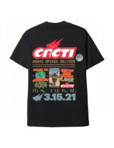 "TRAVIS SCOTT - Camiseta Cacti Down To Earth ""Preto"" -NOVO"