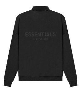 "!FOG - Moletom Essentials Sweater Half Zip ""Preto"" -NOVO-"