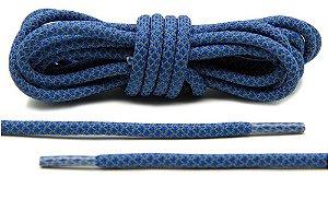 Cadarço Rope Refletivo - Azul e cinza - 126 cm