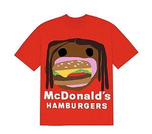 """TRAVIS SCOTT x CPFM - Camiseta 4 CJ Burger Mouth """"Vermelho"""" -NOVO-"""
