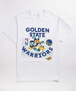 "DIAMOND SUPPLY CO - Camiseta Space Jam Golden State ""Branco"" -NOVO-"
