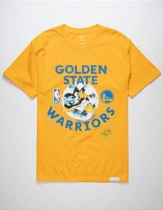 "DIAMOND SUPPLY CO - Camiseta Space Jam Golden State ""Amarelo"" -NOVO-"