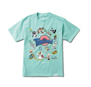 "DIAMOND SUPPLY CO - Camiseta Space Jam Tune Squad ""Menta"" -NOVO-"