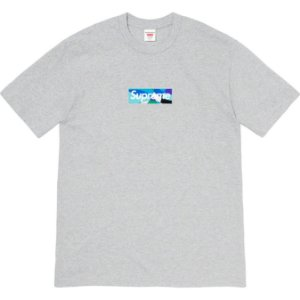 """ENCOMENDA - SUPREME x EMILIO PUCCI - Camiseta Box Logo """"Cinza/Azul"""" -NOVO-"""