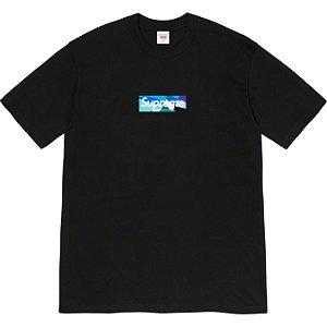 """ENCOMENDA - SUPREME x EMILIO PUCCI - Camiseta Box Logo """"Preto/Azul"""" -NOVO-"""