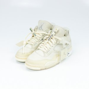 "NIKE x OFF-WHITE - Air Jordan 4 Retro ""Sail"" -USADO-"