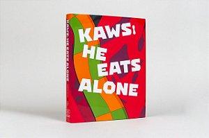 """KAWS - Livro He Eats Alone Hardcover """"Vermelho"""" -NOVO-"""