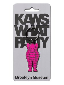 "!KAWS x Brooklyn Museum - Chaveiro What Party ""Rosa"" -NOVO-"
