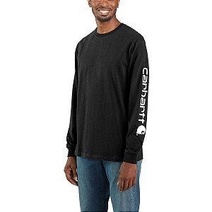 "!CARHARTT - Camiseta Manga Longa Graphic Loose Fit ""Preto"" -NOVO-"