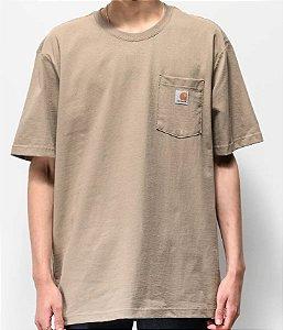"!CARHARTT - Camiseta Pocket Loose Fit ""Desert"" -NOVO-"