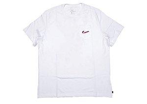 "NIKE x PARRA - Camiseta Pocket ""Branco"" -NOVO-"
