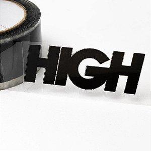 """!HIGH - Fita Adesiva Transparente Logo """"Preto"""" -NOVO-"""
