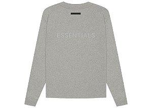 """!FOG - Camiseta Manga Longa Essentials """"Dark Heather/Oatemeal"""" -NOVO-"""