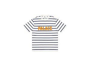 "!PALACE - Camiseta Healthily Stripe ""Branco/Azul"" -NOVO-"