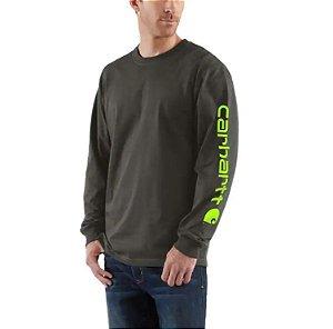 "!CARHARTT - Camiseta Manga Longa Graphic Loose Fit ""Verde"" -NOVO-"